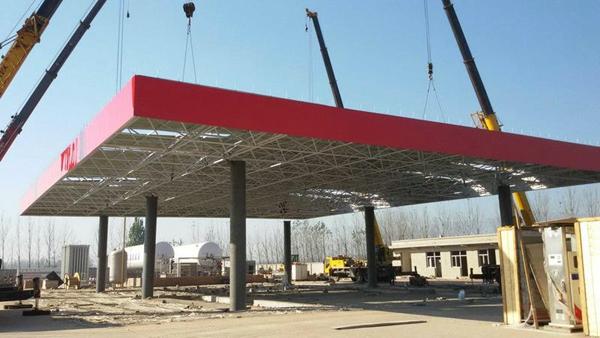 广州钢结构加油站